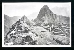 PERU - ANNI 40-50  - MACHU PICHU - CARTOLINA FOTOGRAFICA FORMATO PICCOLO - Perù