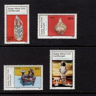 672570226 TURKISH CYPRUS 1986 POSTFRIS MINT NEVER HINGED POSTFRISCH EINWANDFREI SCOTT 183 186 ANATOLIAN ARTIFACTS - Chypre (Turquie)