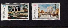 672570856 TURKISH CYPRUS 1986 POSTFRIS MINT NEVER HINGED POSTFRISCH EINWANDFREI SCOTT 179 180 PAINTINGS HOUSES - Chypre (Turquie)