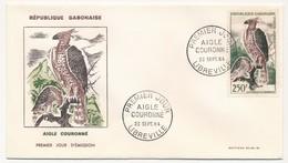 GABON => FDC - Aigle Couronné - 23 Sept 1964 - Libreville - Gabon