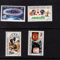 672571852 TURKISH CYPRUS 1986 POSTFRIS MINT NEVER HINGED POSTFRISCH EINWANDFREI SCOTT 187 190 - Chypre (Turquie)
