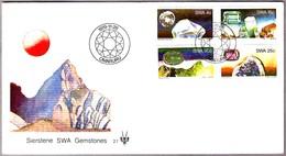 GEMSTONES OF SOUTH-WEST AFRICA. SPD/FDC Omaruru 1979 - Minerales