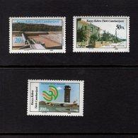672575167 TURKISH CYPRUS 1986 POSTFRIS MINT NEVER HINGED POSTFRISCH EINWANDFREI SCOTT 191 193 DEVELOPMENT PROJECTS - Chypre (Turquie)