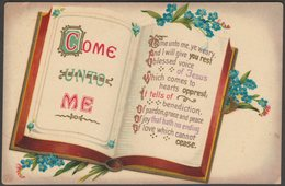 Song Card - Come Unto Me, C.1905-10 - Schwerdtfeger Postcard - Other