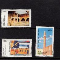 672581929 TURKISH CYPRUS 1989 POSTFRIS MINT NEVER HINGED POSTFRISCH EINWANDFREI SCOTT 242 244 PAINTINGS - Chypre (Turquie)