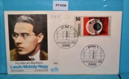 FF1038 FDC Bauhaus 100.Gt. Walter Gropius, Plastik V László Moholy-Nagy, DE 83 - [7] République Fédérale