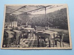 """Hôtel """" AUX ROCHES FLEURIES """" à Frahan / Vue De La Terrasse Vers Rochehaut ( Thill ) Anno 19?? ( Zie Foto's ) ! - Bouillon"""
