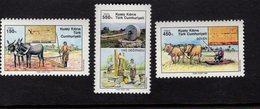 672586252 TURKISH CYPRUS 1989 POSTFRIS MINT NEVER HINGED POSTFRISCH EINWANDFREI SCOTT 264 266 AGRICULTURE - Chypre (Turquie)