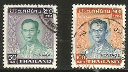 Thailand - 1977 King Bhumibol 50b & 100b Used    Sc 618-9 - Thaïlande