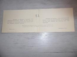 Document (467) Faire - Part Huwelijk Van Mieghem / Thienpont / Pieyns / Buyle  - Loochristi  Lochristi Sinay Sinaai 1933 - Mariage
