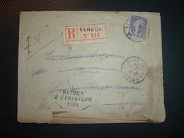 LR TP SEMEUSE 35c OBL.24-7 14 ELBEUF SEINE INFRE (76) RETOUR A L'ENVOYEUR 1386 + NON RECLAME - 1877-1920: Période Semi Moderne