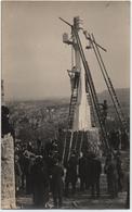 NANCY (54) CARTE PHOTO. CURE D'AIR. ELEVATION De La CROIX De La MISSION. 20 Avril 1924.EN CONTREBAS, LE SACRE-COEUR. - Nancy