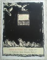 AFFICHE ANCIENNE ORIGINALE EN LITHOGRAPHIE ALECHINSKY Galerie De France Faubourg St Honoré 1977 Imprimeur Arte Paris - Affiches
