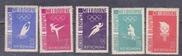 ROMANIA 1956 , MI 1598-1602, ROMANIA 1956 - The OLYMPIC GAMES MELBOURNE, MNH - 1948-.... Republiken