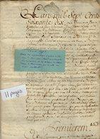 VP13.461 - Cachet Généralité De ROUEN - Acte De 1770 - Devis Pour Noble Dame M. H. CARREL De VAUX , De BONCOURT ........ - Seals Of Generality