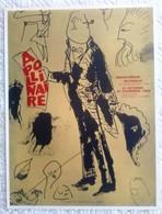 AFFICHE ANCIENNE ORIGINALE EN LITHOGRAPHIE APOLLINAIRE EN ACADEMICIEN PAR PICASSO Bibliothèque Nationale 1969 - Affiches
