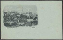 Pulteney Bridge, Bath, Somerset, C.1900 - Blum & Degan U/B Postcard - Bath