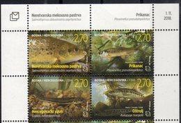 BOSNIA CROAT , 2018, MNH,FISH, 4v - Fishes