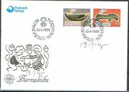 Faroe Islands 1989. CEPT.  Michel 184-86 FDC.  Signed. - Féroé (Iles)