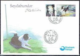 Faroe Islands 1994.  Beware Dog.  Michel  262 - 63  FDC. Signed. - Féroé (Iles)