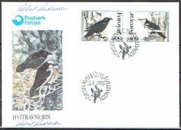 Faroe Islands 1995.   Faroe Raven.   Michel 263-64  FDC.  Signed - Féroé (Iles)