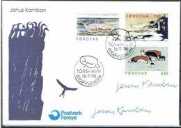 Faroe Islands 1996.  Graphics.  Michel 305-07   FDC.   Signed. - Féroé (Iles)