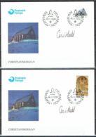 Faroe Islands 1996.  Christianschurch In Klaksvik.  Michel 308-09   FDC.   Signed. - Féroé (Iles)