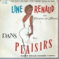 """45 Tours EP - LINE RENAUD  - PATHE 497 -  """" TROP BEAU  """" + 3 ( Déssin: BRENOT ) - Vinyl Records"""