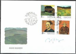 Faroe Islands 1998.  Paintings.  Michel 341-44 FDC.  Signed. - Féroé (Iles)