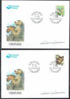 Faroe Islands 1999.  Stood Birds.  Michel  352-53  FDC.  Signed. - Féroé (Iles)