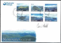 Faroe Islands 1999.  Islands.  Michel  356-61  FDC.  Signed. - Féroé (Iles)