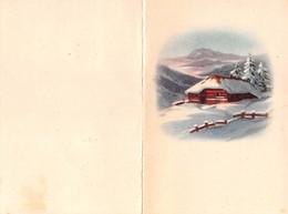 """08873 """"CALENDARIETTO - CASETTA IN MONTAGNA - NEVE - 1953"""" - Formato Piccolo : 1941-60"""
