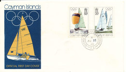 Cayman Islands FDC 16-8-1976 Olympic Games Set Of 2 With Cachet - Cayman Islands