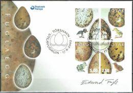 Faroe Islands 2002. Bird Eggs And Chicks.  Michel   427-30 FDC.  Signed. - Féroé (Iles)