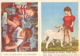 """08875 """"CALENDARIETTO - ROMA - OPERA NAZIONALE PRO DERELITTI - PADRE GUIDO - 1958"""" ANIMATO - Small : 1941-60"""