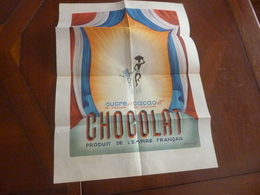 Publicite Colonie  Sucre Plus Cacao Egalent  Chocolat - Posters