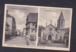 AK Loffenau - Hauptstrasse Mit Rathaus - Evangelische Kirche ( Gasthaus U. Pension Zur Sonne ) - Autres