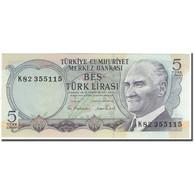 Billet, Turquie, 5 Lira, 1970-10-14, KM:185, NEUF - Turquie