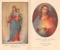 """08876 """"CALENDARIETTO-MARIA AIUTO DEI CRISTIANI-SACRO CUORE DI GESU'- SANTUARIO SALESIANI BOLOGNA-1937"""" - Calendari"""