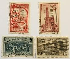 YT 442 Grégoire De Tours 443 Cathédrale Strasbourg 444 Sesquicentenaire Révolution 445 Victoire Verdun (5,55 Euros) - 35 - Frankrijk