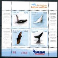 Costa Rica          863/866  **   Baleine Et Dauphin - Costa Rica