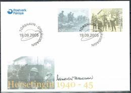 Faroe Islands 2005. British Occupation Of Faroe Islands. Michel  543-44 FDC.  Signed. - Féroé (Iles)