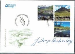 Faroe Islands 2006. Villages Of The Island Eysturoy. Michel  557-59  FDC.  Signed. - Féroé (Iles)