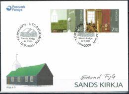 Faroe Islands 2006.  Church Of Sandur. Michel  584-85  FDC.  Signed. - Féroé (Iles)