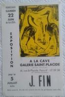 J FIN Lithographie 27/35 Signée De L'artiste Galerie St Placide Paris 6è Affiche Originale Ancienne Imp Grou Radenez - Lithographies