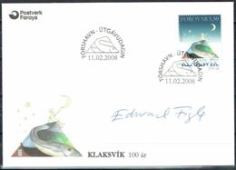 Faroe Islands 2008. 100 Anniv Klaksvik. Michel 634  FDC.  Signed. - Féroé (Iles)