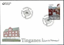 Faroe Islands 2008.  Peninsula Tinganes. Michel 635  FDC.  Signed. - Féroé (Iles)