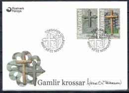 Faroe Islands 2008.  Old Crosses.  Michel 657-58 FDC.  Signed. - Féroé (Iles)
