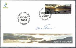 Faroe Islands 2009.  SEPAC: Landscapes.  Michel 682 FDC.  Signed. - Féroé (Iles)