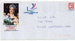 1999--PAP Repiquage Euro Conseil Générale De L'Oise--Elodie GOSSUIN Miss Picardie 2000, élue Miss France 2001 - Prêts-à-poster: Other (1995-...)